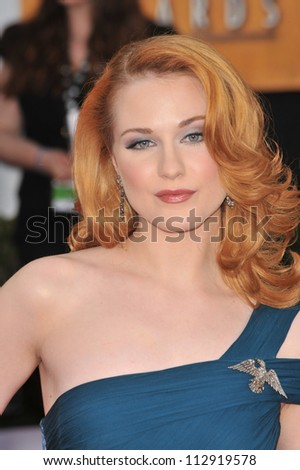 LOS ANGELES, CA - JANUARY 25, 2009: Evan Rachel Wood at the 15th Annual Screen Actors Guild Awards at the Shrine Auditorium, Los Angeles.