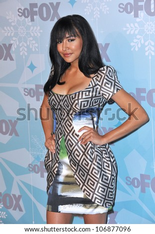 "LOS ANGELES, CA - JANUARY 11, 2011: ""Glee"" star Naya Rivera at the Fox All-Star Party Winter 2011 in Pasadena. January 11, 2011  Pasadena, CA"