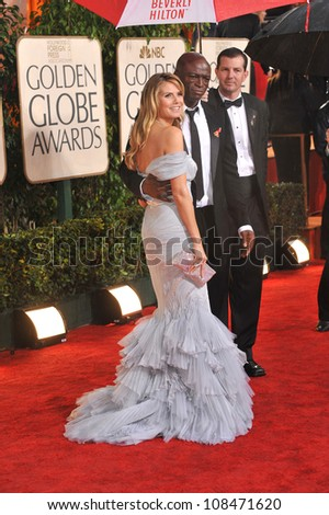 LOS ANGELES, CA - JANUARY 17, 2010: Heidi Klum & Seal at the 67th Golden Globe Awards at the Beverly Hilton Hotel.