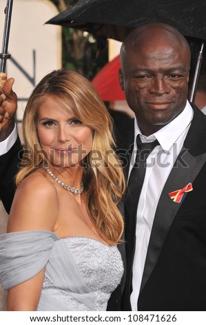 LOS ANGELES, CA - JANUARY 17, 2010: Heidi Klum & Seal at the 67th Golden Globe Awards at the Beverly Hilton Hotel.