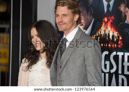 LOS ANGELES, CA - JANUARY 7: Josh Pence and Abigail Spencer arrive at the premiere of Gangster Squad at Grauman's Chinese Theatre in Los Angeles, CA on January 7, 2013