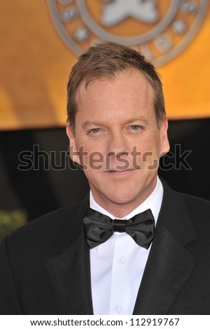 LOS ANGELES, CA - JANUARY 25, 2009: Kiefer Sutherland at the 15th Annual Screen Actors Guild Awards at the Shrine Auditorium, Los Angeles.