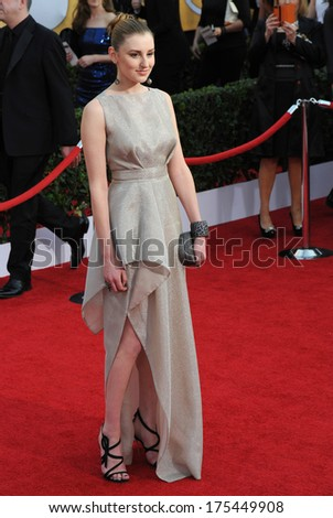 LOS ANGELES, CA - JANUARY 18, 2014: Laura Carmichael at the 20th Annual Screen Actors Guild Awards at the Shrine Auditorium.