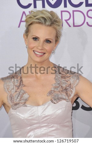LOS ANGELES, CA - JANUARY 9, 2013: Monica Potter at the People's Choice Awards 2013 at the Nokia Theatre L.A. Live.