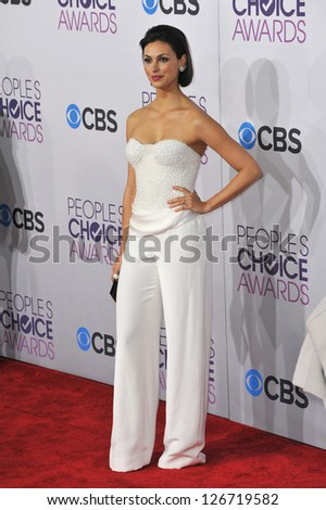 LOS ANGELES, CA - JANUARY 9, 2013: Morena Baccarin at the People's Choice Awards 2013 at the Nokia Theatre L.A. Live.