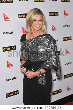 LOS ANGELES, CA - JANUARY 16, 2010: Olivia Newton-John at the 2010 G'Day USA Australia Week Black Tie Gala at the Grand Ballroom at Hollywood & Highland.