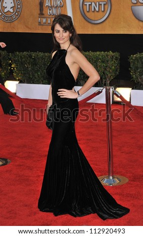 LOS ANGELES, CA - JANUARY 25, 2009: Penelope Cruz at the 15th Annual Screen Actors Guild Awards at the Shrine Auditorium, Los Angeles.