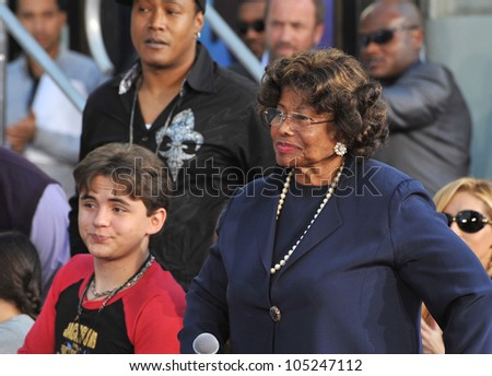 LOS ANGELES, CA - JANUARY 26, 2012: Prince Michael Jackson & grandmother Katherine Jackson at Michael Jackson memorial at Grauman's Chinese Theatre. January 26, 2012  Los Angeles, CA