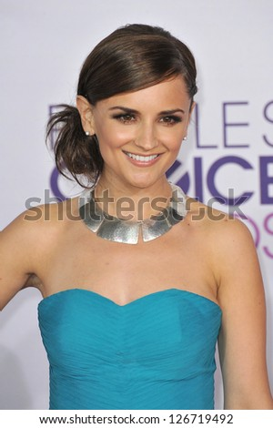 LOS ANGELES, CA - JANUARY 9, 2013: Rachael Leigh Cook at the People's Choice Awards 2013 at the Nokia Theatre L.A. Live.
