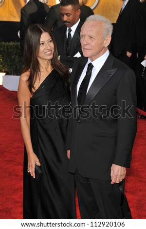 LOS ANGELES, CA - JANUARY 25, 2009: Sir Anthony Hopkins & wife Stella at the 15th Annual Screen Actors Guild Awards at the Shrine Auditorium, Los Angeles.