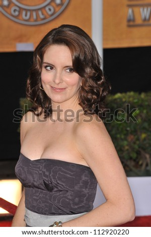 LOS ANGELES, CA - JANUARY 25, 2009: Tina Fey at the 15th Annual Screen Actors Guild Awards at the Shrine Auditorium, Los Angeles.
