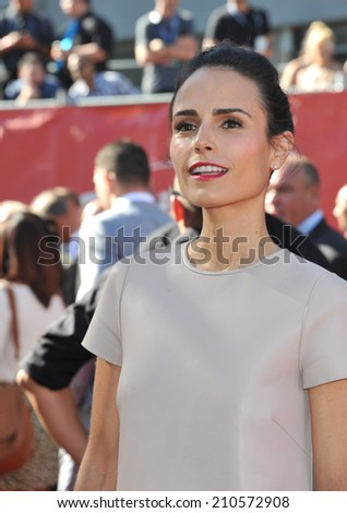LOS ANGELES, CA - JULY 16, 2014: Actress Jordana Brewster at the 2014 ESPY Awards at the Nokia Theatre LA Live.