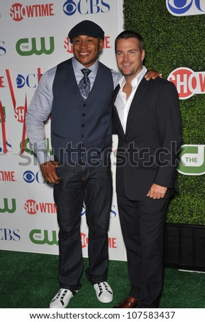 """LOS ANGELES, CA - JULY 28, 2010: Chris O'Donnell & LL Cool J - stars of """"NCIS: Los Angeles"""" - at CBS TV Summer Press Tour Party in Beverly Hills."""