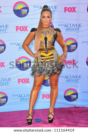 LOS ANGELES, CA - JULY 23, 2012: Demi Lovato at the 2012 Teen Choice Awards at the Gibson Amphitheatre, Universal City.