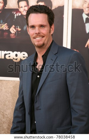 LOS ANGELES, CA - JULY 9: Entourage cast member, Kevin Dillon shows up to the sixth season premiere on the Paramount Pictures lot in Los Angeles, CA on July 9, 2009.