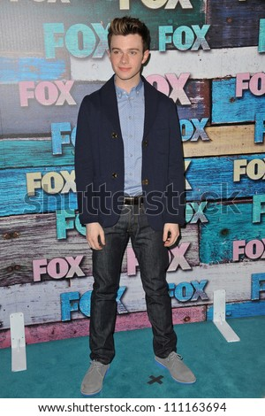 LOS ANGELES, CA - JULY 24, 2012: Glee star Chris Colfer at the Fox Summer 2012 All-Star Party in West Hollywood.