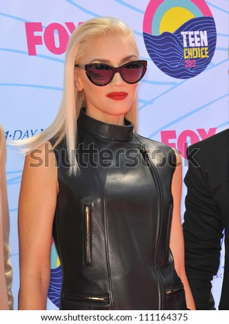 LOS ANGELES, CA - JULY 23, 2012: Gwen Stefani of No Doubt at the 2012 Teen Choice Awards at the Gibson Amphitheatre, Universal City.