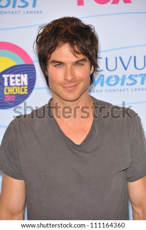 LOS ANGELES, CA - JULY 23, 2012: Ian Somerhalder at the 2012 Teen Choice Awards at the Gibson Amphitheatre, Universal City.
