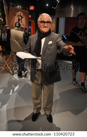 LOS ANGELES, CA - JULY 21, 2009: Martin Scorsese waxwork figure - grand opening of Madame Tussauds Hollywood.