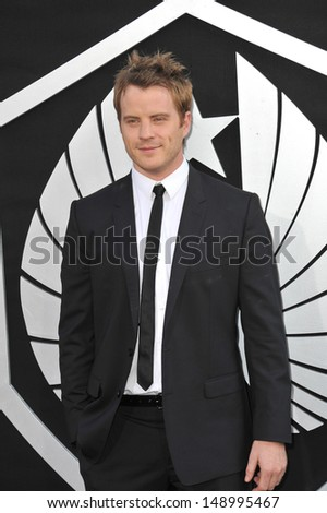 LOS ANGELES, CA - JULY 9, 2013: Rob Kazinsky at the premiere of his new movie Pacific Rim at the Dolby Theatre, Hollywood.