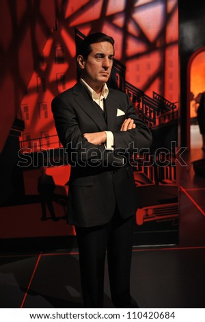 LOS ANGELES, CA - JULY 21, 2009: Robert De Niro waxwork figure - grand opening of Madame Tussauds Hollywood.