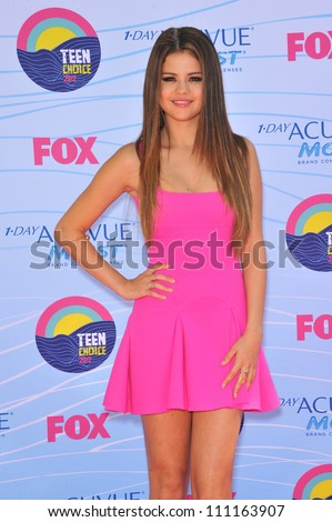 LOS ANGELES, CA - JULY 23, 2012: Selena Gomez at the 2012 Teen Choice Awards at the Gibson Amphitheatre, Universal City.