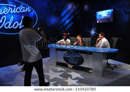 LOS ANGELES, CA - JULY 21, 2009: Simon Cowell waxwork figure - grand opening of Madame Tussauds Hollywood.