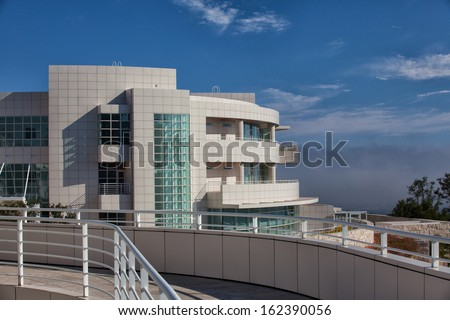 LOS ANGELES, CA - JULY 4, 2011: The Getty Center attracts more than 1.3 million visitors annually to it's hilltop location in Los Angeles California; July 4,2011.