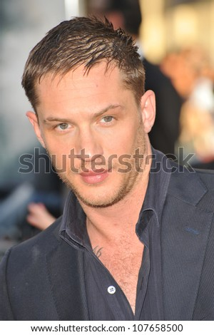 "LOS ANGELES, CA - JULY 13, 2010: Tom Hardy at the Los Angeles premiere of his new movie ""Inception"" at Grauman's Chinese Theatre, Hollywood."