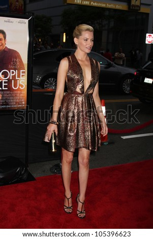 "LOS ANGELES, CA - JUN 15: Elizabeth Banks at the ""People Like Us"" LAFF Premiere at Regal Cinemas at LA Live on June 15, 2012 in Los Angeles, California - stock photo"
