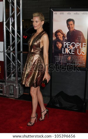 "LOS ANGELES, CA - JUN 15: Elizabeth Banks at the ""People Like Us"" LAFF Premiere at Regal Cinemas at LA Live on June 15, 2012 in Los Angeles, California - stock photo"