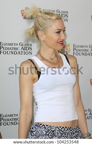 LOS ANGELES, CA - JUN 3: Gwen Stefani at the 23rd Annual 'A Time for Heroes' Celebrity Picnic Benefitting the Elizabeth Glaser Pediatric AIDS Foundation on June 3, 2012 in Los Angeles, California