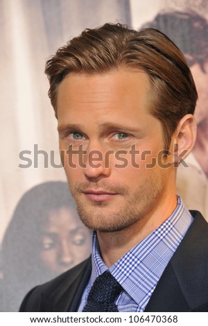 "LOS ANGELES, CA - JUNE 21, 2011: Alexander Skarsgard at the Los Angeles premiere of the fourth season of HBO's ""True Blood"" at the Cinerama Dome, Hollywood. June 21, 2011  Los Angeles, CA"