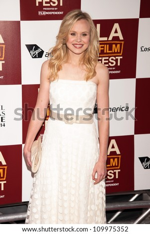 LOS ANGELES, CA - JUNE 14: Alison Pill arrives at the Los Angeles Film Festival premiere of 'To Rome With Love' at Regal Cinemas L.A. LIVE Stadium 14 on June 14, 2012 in Los Angeles, California.