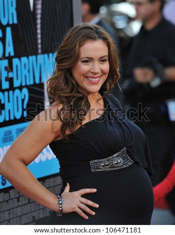 """LOS ANGELES, CA - JUNE 30, 2011: Alyssa Milano at the Los Angeles premiere of """"Horrible Bosses"""" at Grauman's Chinese Theatre, Hollywood. June 30, 2011  Los Angeles, CA"""