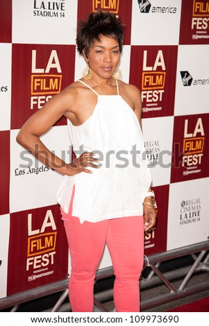 LOS ANGELES, CA - JUNE 20: Angela Bassett  arrives at the Los Angeles Film Festival premiere of 'Middle of Nowhere' at Regal Cinemas L.A. LIVE 1 on June 20, 2012 in Los Angeles, California.