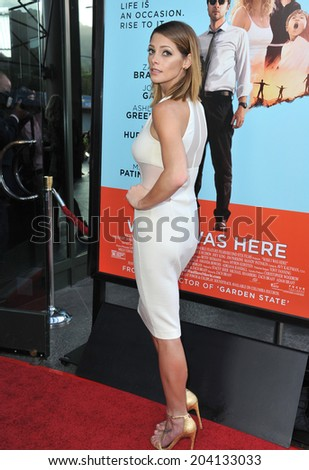 "LOS ANGELES, CA - JUNE 23, 2014: Ashley Greene at the Los Angeles premiere of her movie ""Wish I Was Here"" at the Directors Guild Theatre."
