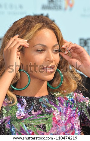 LOS ANGELES, CA - JUNE 28, 2009: Beyonce Knowles at the 2009 BET Awards (Black Entertainment Television) at the Shrine Auditorium.