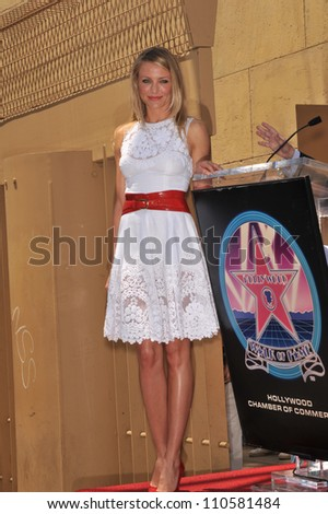 LOS ANGELES, CA - JUNE 22, 2009: Cameron Diaz on Hollywood Boulevard where she was honored with the 2,386the star on the Hollywood Walk of Fame.