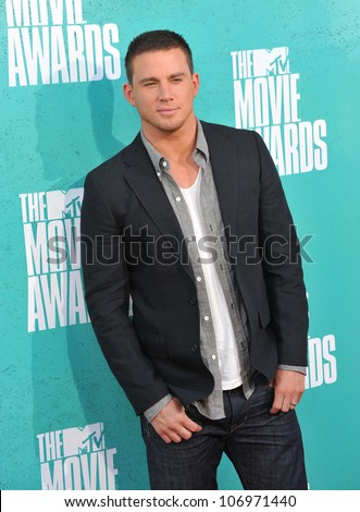 LOS ANGELES, CA - JUNE 4, 2012: Channing Tatum at the 2012 MTV Movie Awards at Universal Studios, Hollywood. June 4, 2012  Los Angeles, CA