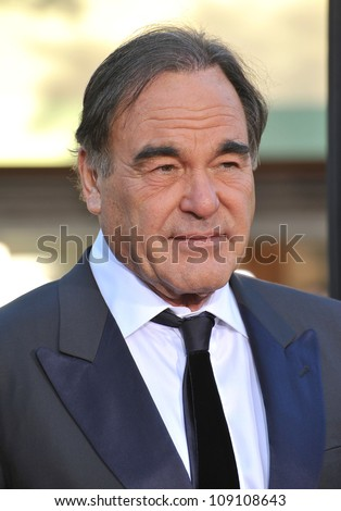 """LOS ANGELES, CA - JUNE 26, 2012: Director Oliver Stone at the world premiere of his new movie  """"Savages"""" at Mann Village Theatre, Westwood."""