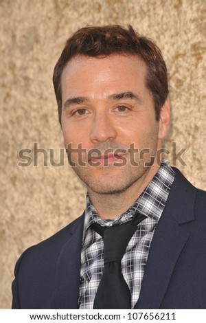 "LOS ANGELES, CA - JUNE 16, 2010: Jeremy Piven at the season seven premiere of his TV series ""Entourage"" at Paramount Studios, Hollywood."