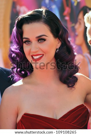 "LOS ANGELES, CA - JUNE 27, 2012: Katy Perry at the Los Angeles premiere of her new movie ""Katy Perry: Part of Me"" at Grauman's Chinese Theatre, Hollywood."