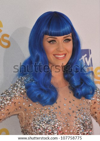 LOS ANGELES, CA - JUNE 6, 2010: Katy Perry at the 2010 MTV Movie Awards at the Gibson Amphitheatre, Universal Studios, Hollywood.