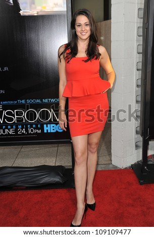 "LOS ANGELES, CA - JUNE 21, 2012: Kelen Coleman at the Los Angeles premiere for HBO's new series ""The Newsroom"" at the Cinerama Dome, Hollywood. - stock photo"