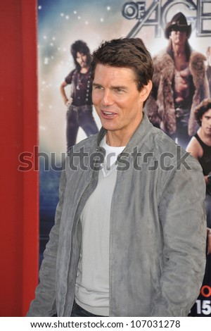 "LOS ANGELES, CA - JUNE 9, 2012: Tom Cruise at the world premiere of his new movie ""Rock of Ages"" at Grauman's Chinese Theatre, Hollywood. June 9, 2012  Los Angeles, CA"
