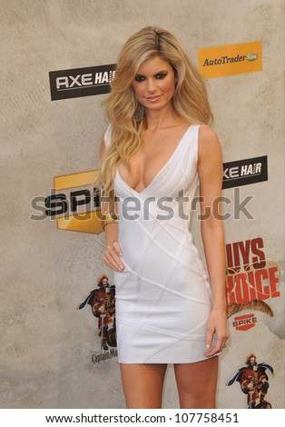 LOS ANGELES, CA - JUNE 5, 2010: Victoria's Secret model Marisa Miller at Spike TV's Guys Choice Awards 2010 at Sony Studios, Culver City.