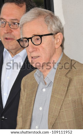"""LOS ANGELES, CA - JUNE 15, 2012: Woody Allen at the LA Film Festival premiere of his movie """"To Rome With Love"""" at the Regal Cinemas LA Live."""