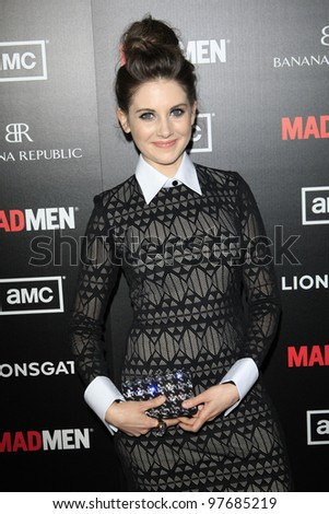 LOS ANGELES, CA - MAR 14: Alison Brie at AMC's special screening of 'Mad Men' season 5 held at ArcLight Cinemas Cinerama Dome on March 14, 2012 in Los Angeles, California