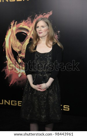 LOS ANGELES, CA - MAR 12: Suzanne Collins at the premiere of Lionsgate's 'The Hunger Games' at Nokia Theater L.A. Live on March 12, 2012 in Los Angeles, California